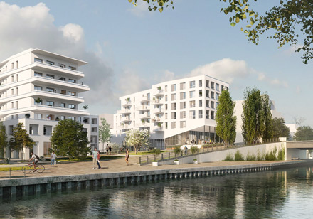 Logements  ZAC des rives de l'Ourcq, Lot C6, Bondy
