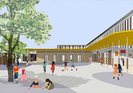 Centre scolaire Jean Moulin, Villeneuve-la-garenne