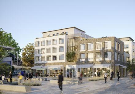 Résidence étudiante et commerces, Gare du Vésinet