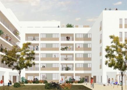 Logements, construction Bois, ZAC de la Fraternité, Montreuil